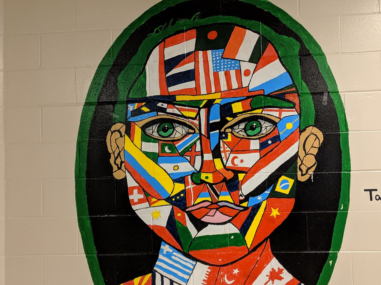 face made out of flags Anura Guruge